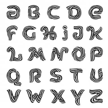 Alphabet letters design template