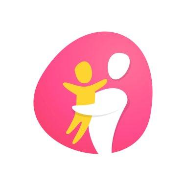 Happy family logo design.