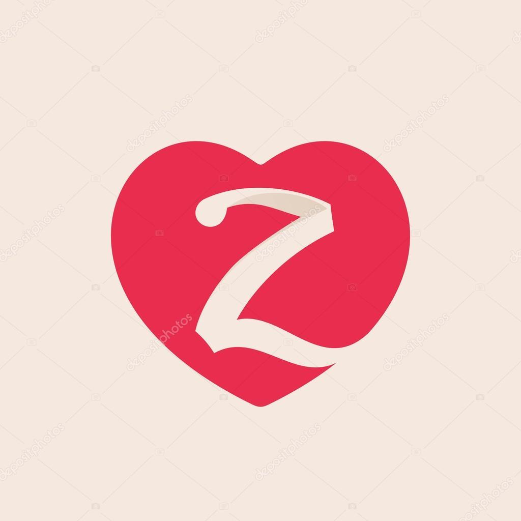 Valentine S Day Z Letter Stock Vector C Kaer Dstock 96212784