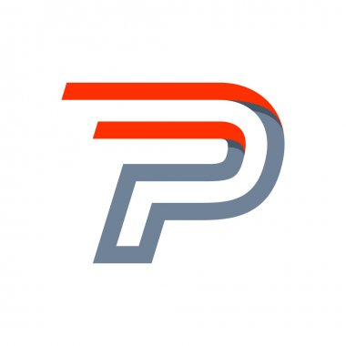P letter fast speed logo.