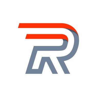 R letter fast speed logo.