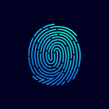 Fingerprint line icon
