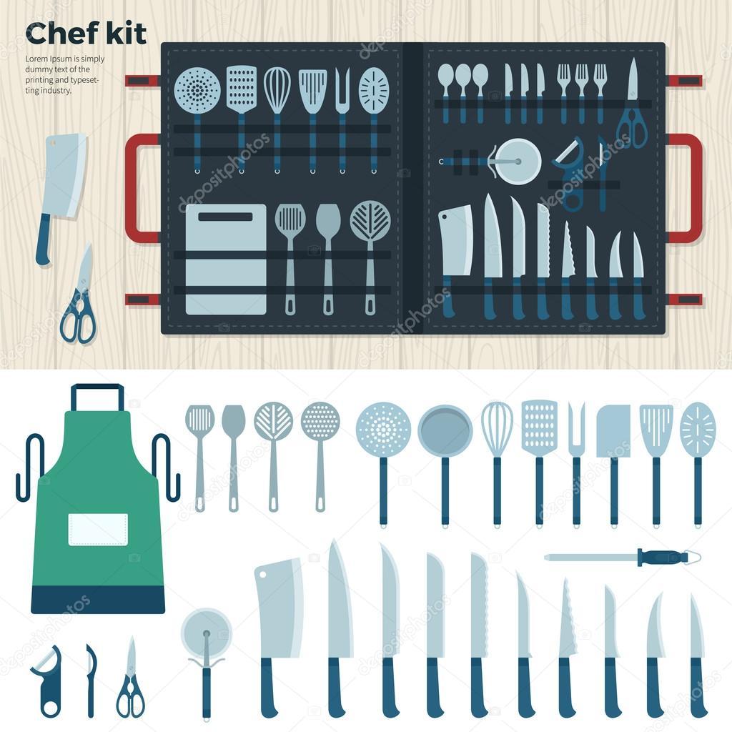 Cucina moderna strumenti per cucinare kit di chef - Si usa per cucinare 94 ...