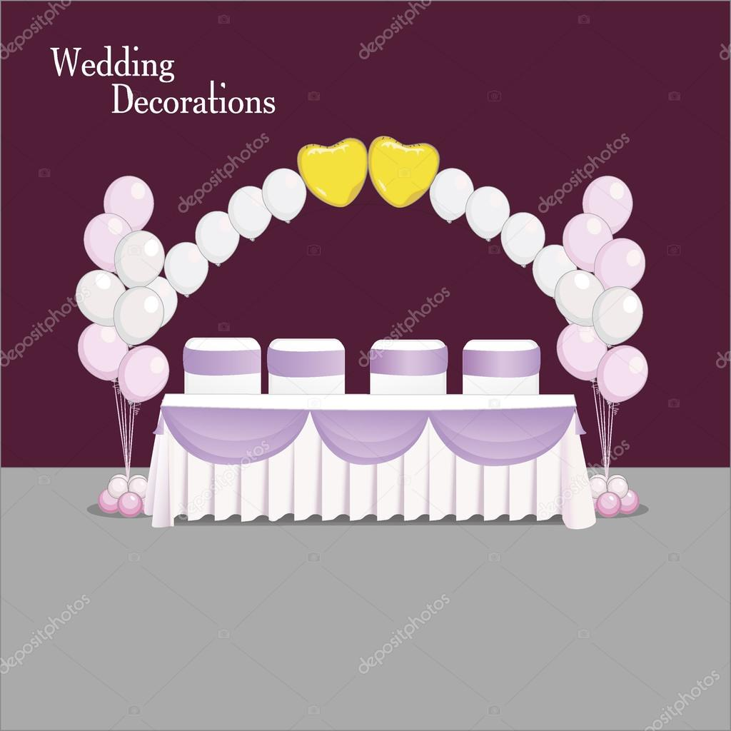 Wedding table decoration balloons white and pink stock vector wedding table decoration balloons white and pink stock vector junglespirit Gallery