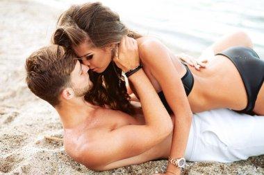 happy youn couple