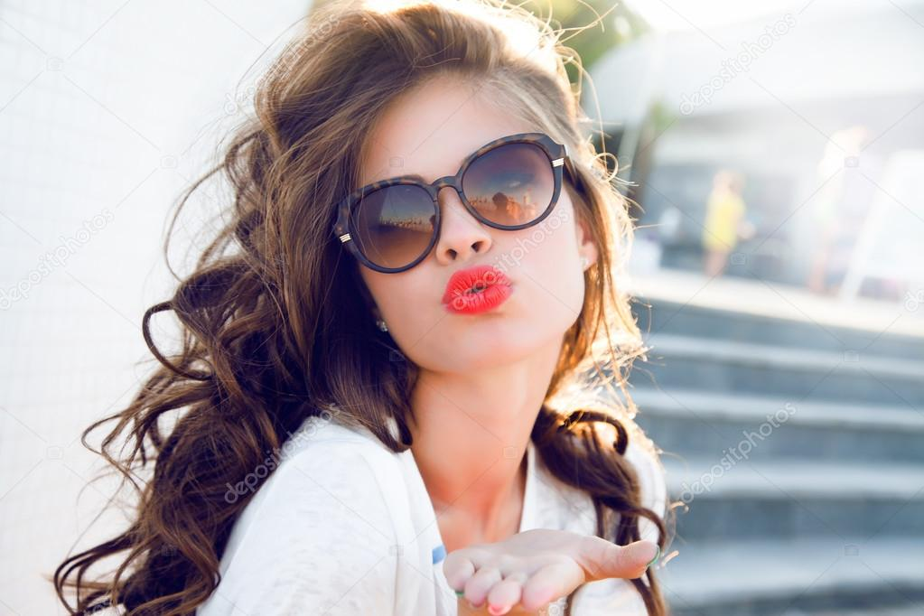 beautiful woman with perfect makeup