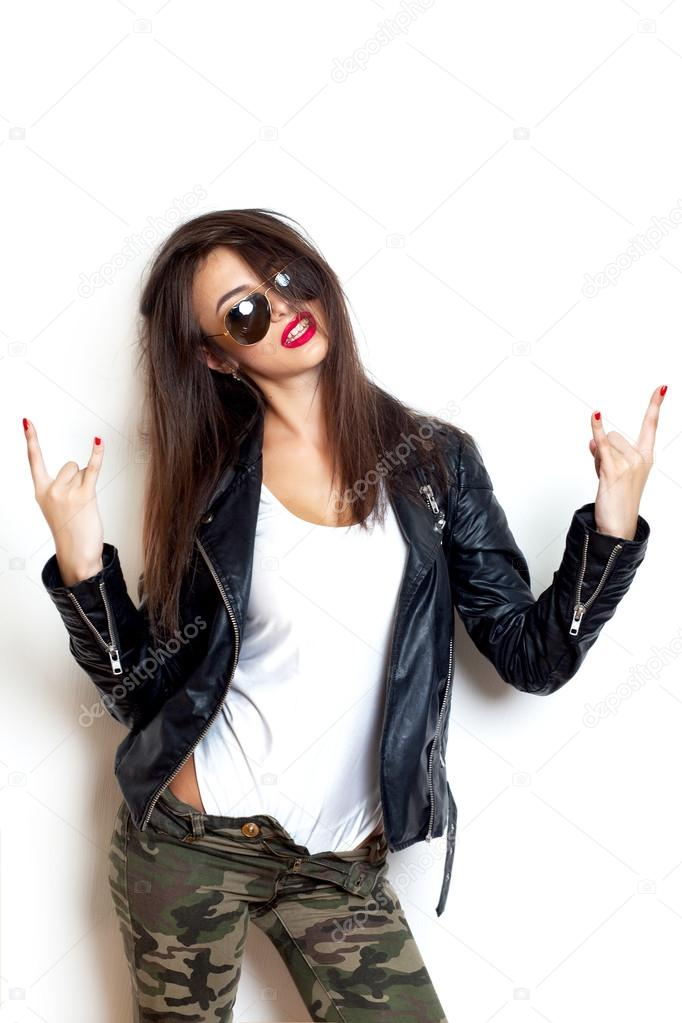Sexy girl rock