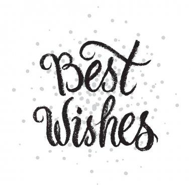Best Wishes handwritten text on stipple background.