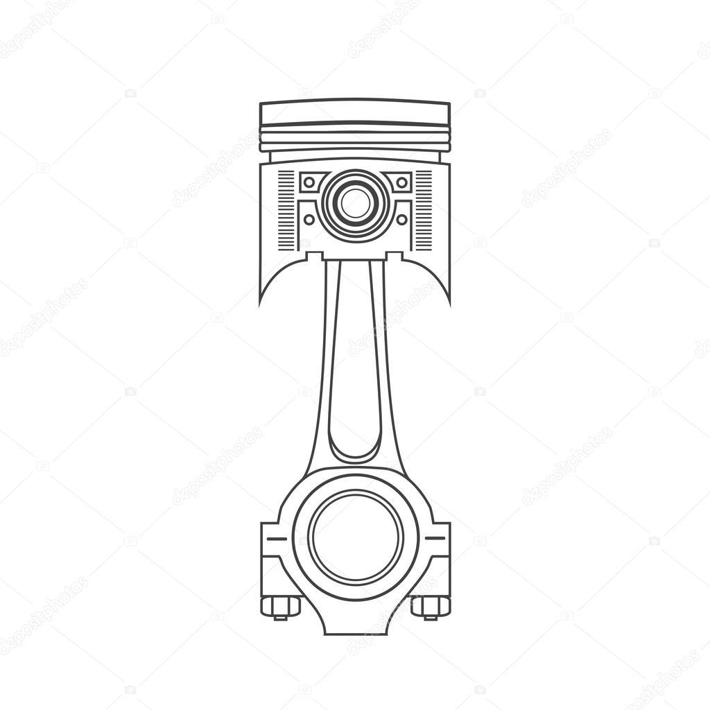 piston voiture de fer dans un style de dessin illustration vectorielle image vectorielle. Black Bedroom Furniture Sets. Home Design Ideas