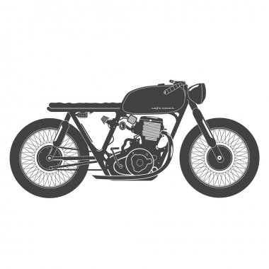 Old vintage motorcycle. cafe racer theme