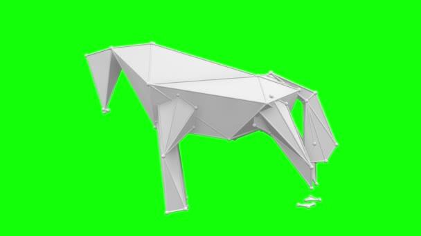 White horse low polygon