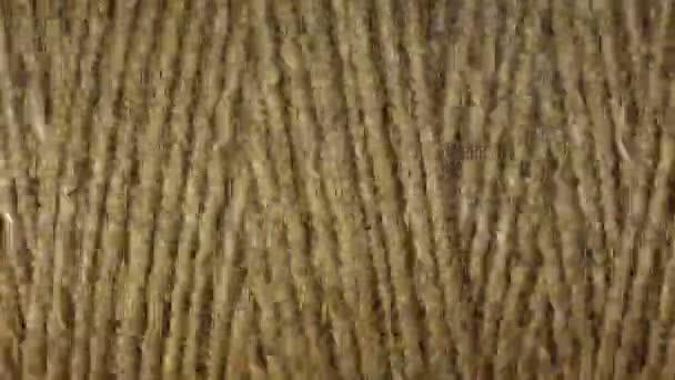 4 k silné béžové lano otočí, čelní pohled, makro, loop, časová prodleva