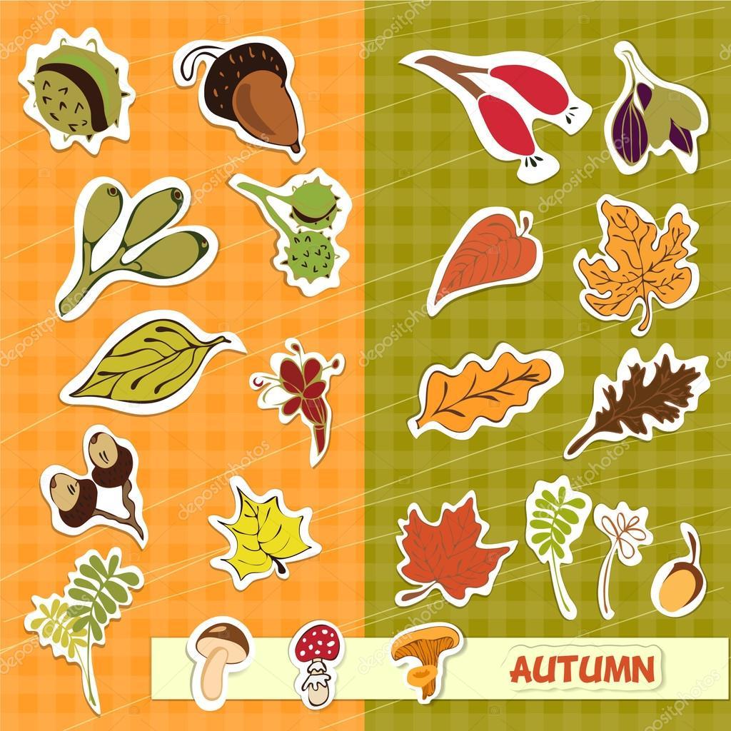 autumn nature children applique