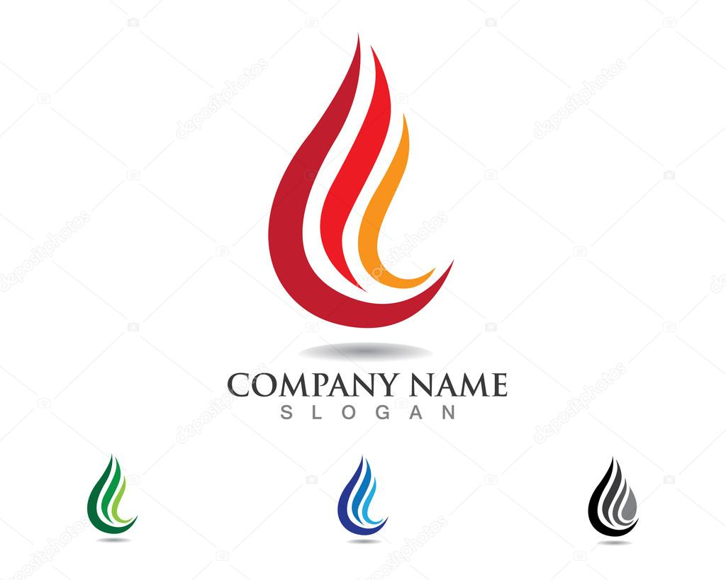 Fire And Water Symbol Logo Stock Vector Hatigraphic 77723976