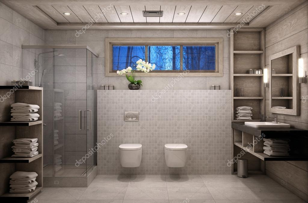 chalet Salle de bain — Photographie korisbo@gmail.com ...