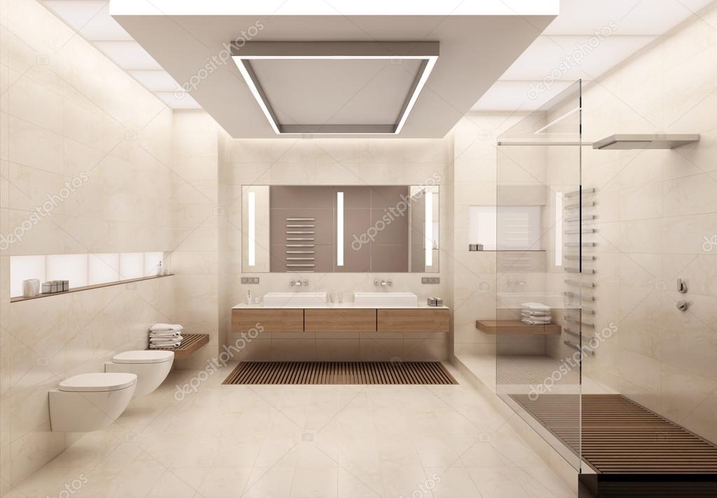 Sala Da Bagno Stile Contemporaneo : Rendering d della stanza da bagno u foto stock korisbo gmail