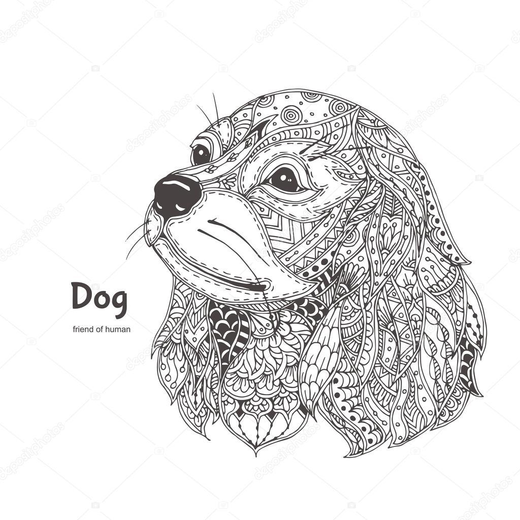 Kleurplaten Volwassenen Honden Archidev