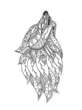 Hand-drawn wolf