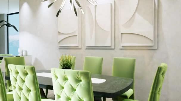 Moderní krásný design interiéru. 3D vykreslení