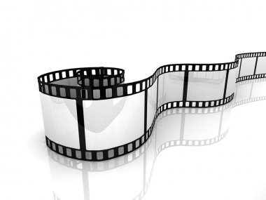Film isolated on white background stock vector