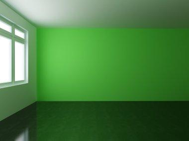 """Картина, постер, плакат, фотообои """"render empty interior"""", артикул 76395913"""
