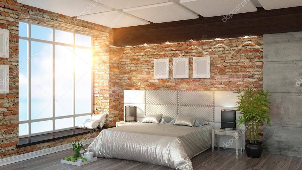 Loft Küche Ideen mit Weißen Offene Regale und Moderne Möbel ...