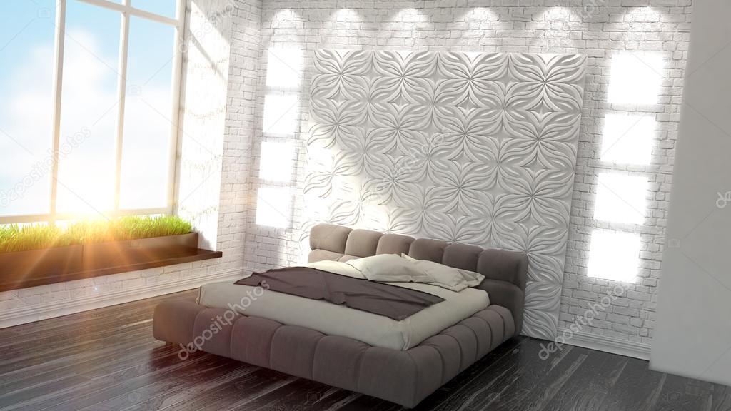 intérieur de belle chambre moderne — Photographie elsar77 © #77756278