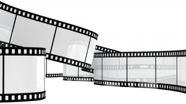 Filmstrip  isolated on white