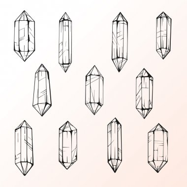 Set of 11 magic crystal gems