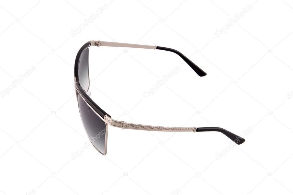 4e50d551b5 Γυαλιά ηλίου μαύρο απομονωθεί πάνω από το λευκό φόντο — Εικόνα από ...