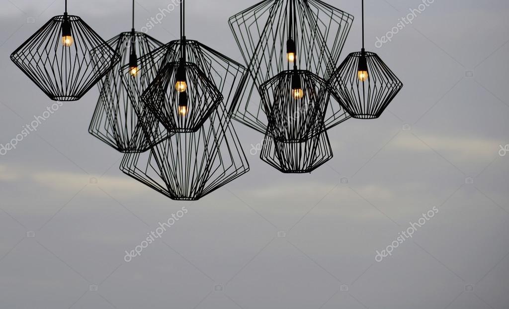 Eisen Lampe jugendstil eisen lampe — stockfoto © lasivious #99890084