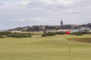 View of St andrews from links golf course