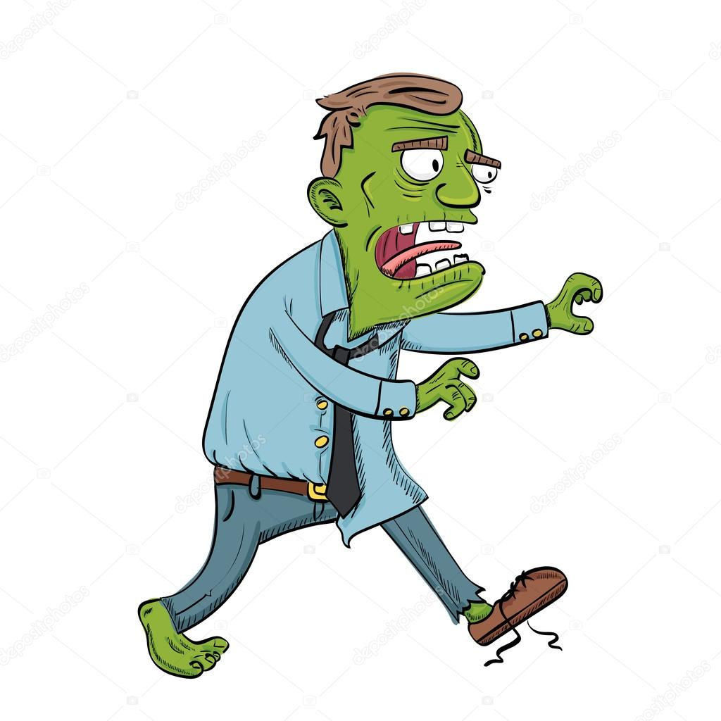 Cartoon Walking Zombie Stock Vector C Yaistantine Live Com
