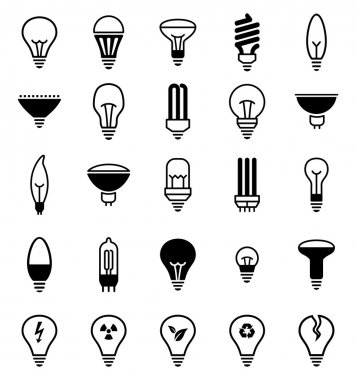 Light bulb icons - Illustration