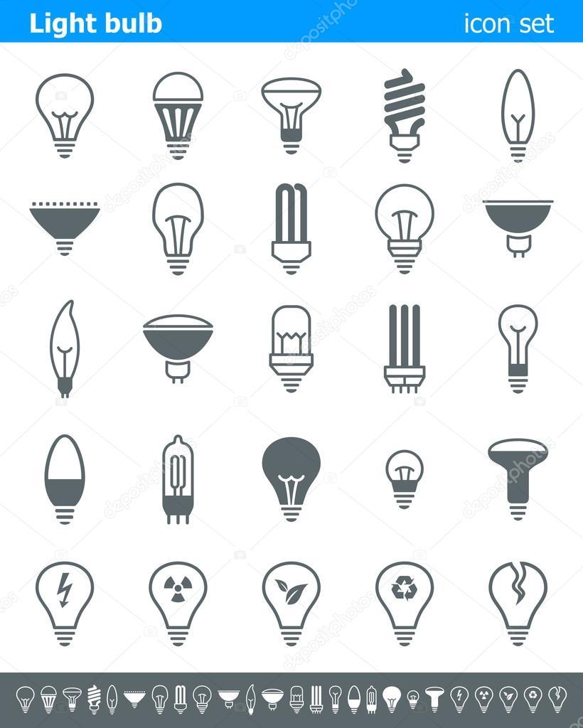 Light bulb icons - Illustration