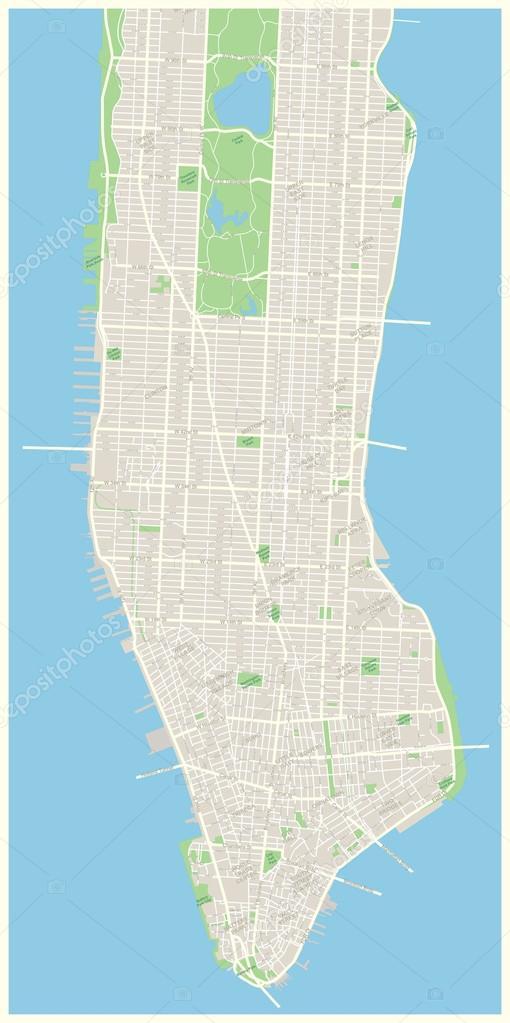 new york stadtplan niedriger und mid manhattan. Black Bedroom Furniture Sets. Home Design Ideas