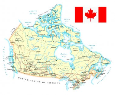 Canada - detailed map - illustration.
