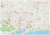 Fotografie Barcelona mapa