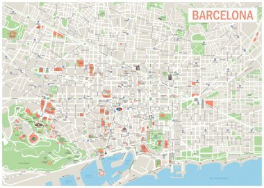 Barcelona Map.