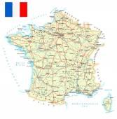 Francia - mappa dettagliata - illustrazione.