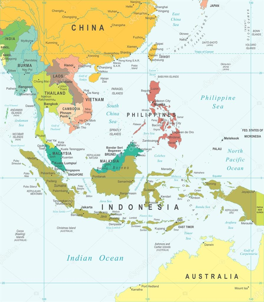 Cartina Asia Del Sud.ᐈ Asia Map Stock Pictures Royalty Free Southeast Asia Map