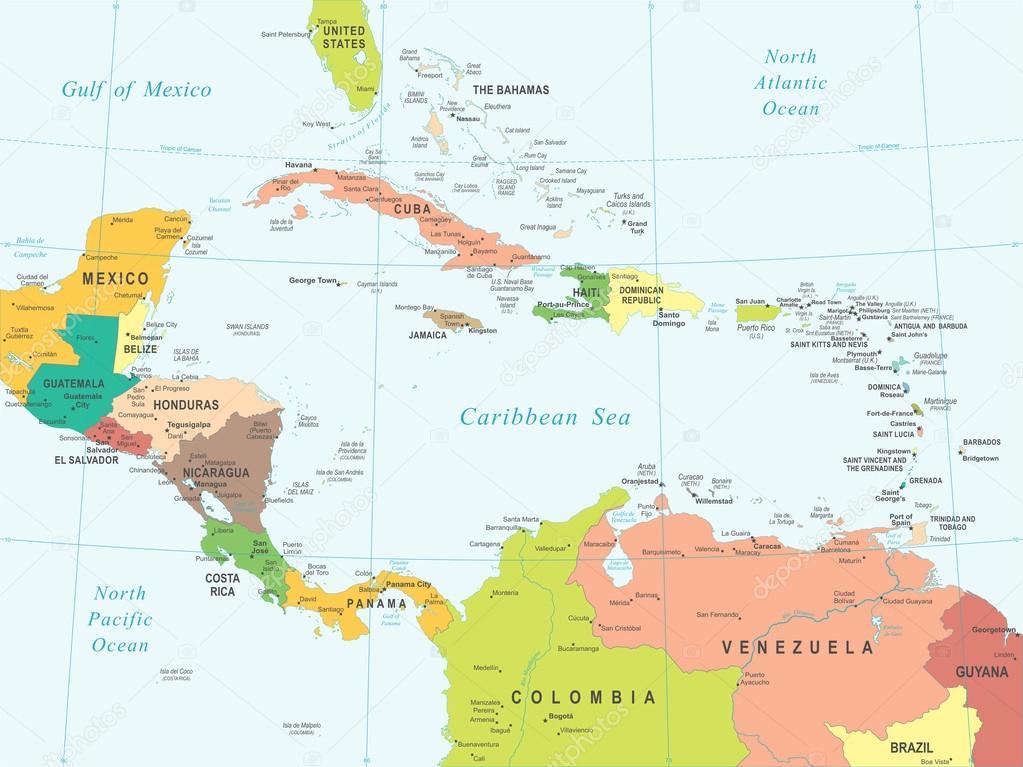 karta centralamerika Centralamerika   karta   illustration — Stock Vektor © dikobrazik  karta centralamerika