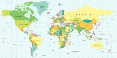 World Map - illustration.