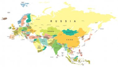 Eurasia - map - illustration.
