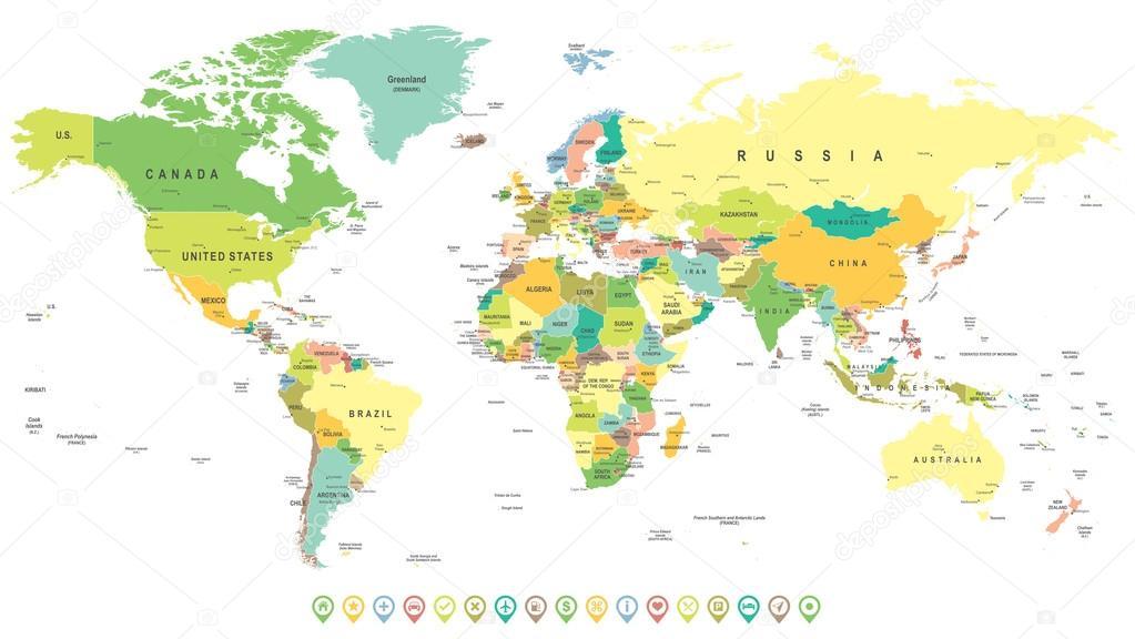 Cartina Mondo Vettoriale Gratis.Cartina Geografica Mondo Vettori Stock Immagini Disegni Cartina Geografica Mondo Grafica Vettoriale Da Depositphotos