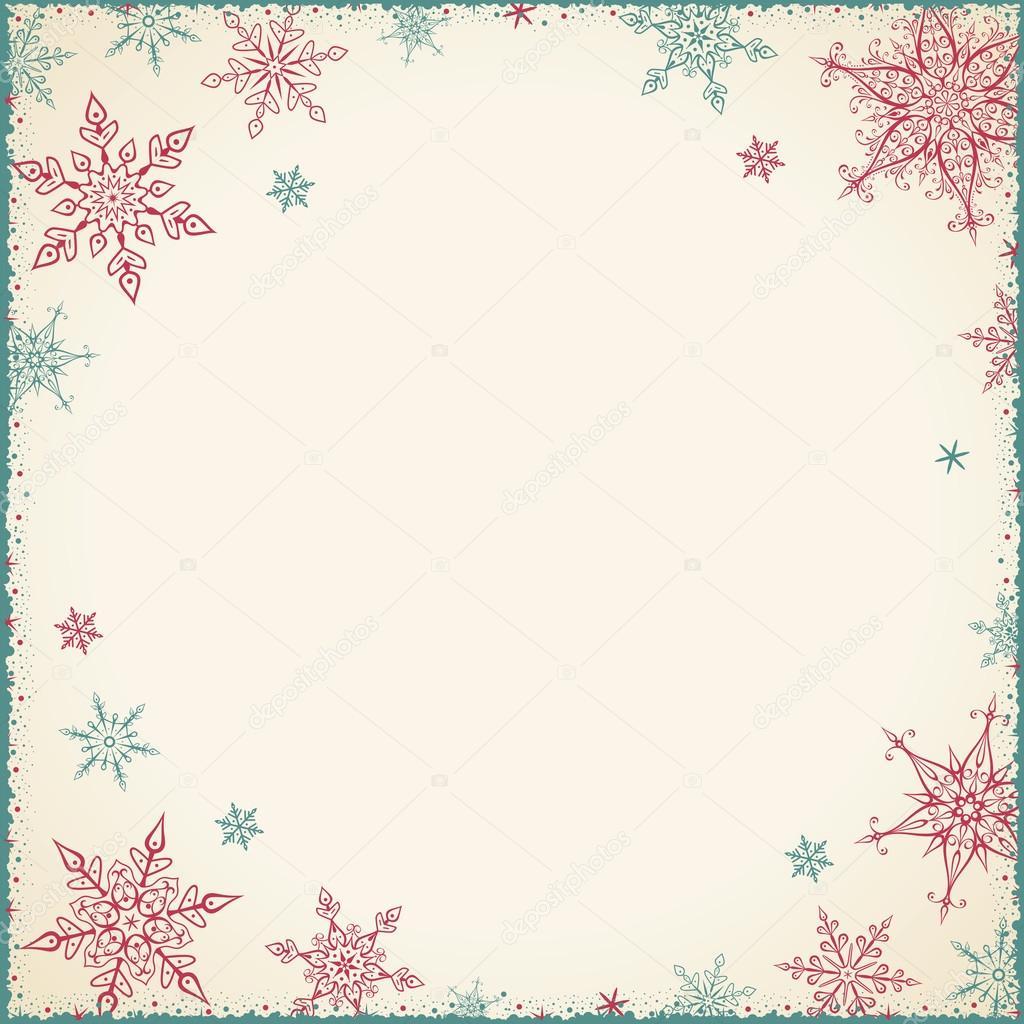 Marco de Navidad Vintage - ilustración. Tarjeta de Navidad - Vintage ...