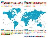 All Flags and World Map. Murena.