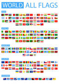 Fotografie All World Vector Flags. Sorted by Continents.