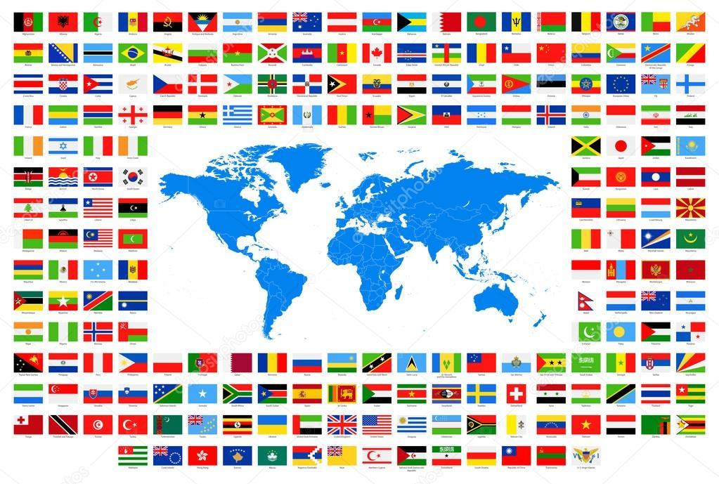 Cartina Mondo Con Bandiere.Mappamondo Con Bandiere Vettori Stock Immagini Disegni Mappamondo Con Bandiere Grafica Vettoriale Da Depositphotos