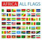 Photo Flags of Africa - Full Vector Collection.